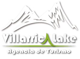 Logo Blanco villarrica lake
